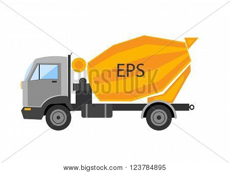 Autotruck Tipping lorry Tripper truck vector isolated Tipping lorry. Autotruck vector isolated.Building truck machine. lift cargo vehicle