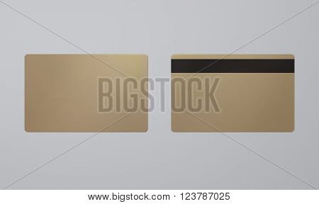 Credit or debit card template with grey background,To apply any concept for business transaction , gift card, VIP and discount card illustration.