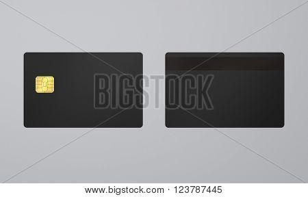 Black Card With Ic