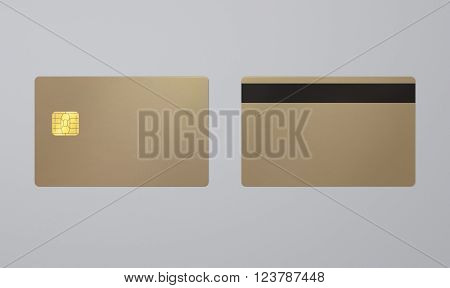 Champagne Gold Card With Ic