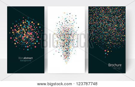 Brochure, leaflet, flyer, business card, cover template. abstract multicolored blot background . stock-vector illustration