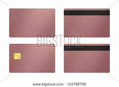Rose Gold Card With White Background