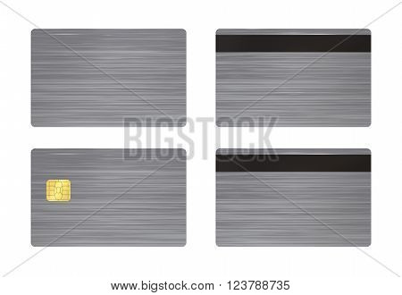 Steel Card With White Background