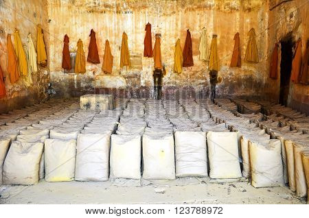 Bags of ochre in the Luberon, France