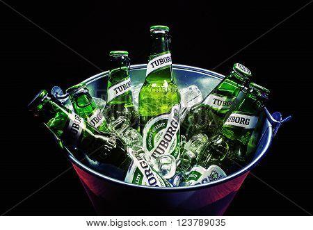 Six Bottles Of Tuborg Beer