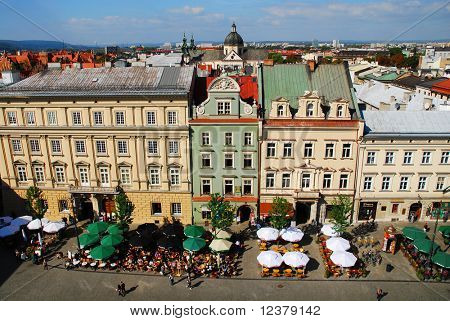 An aerial view of the old town of Cracow, Poland. See more in my portfolio.