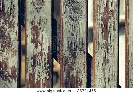 Old Distant Boarded Fence