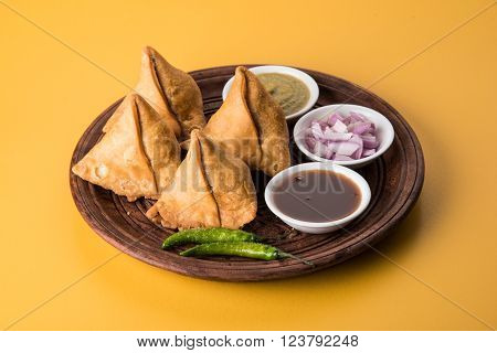 samosa a popular indian snack food, fried and junk food