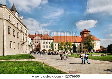 The Wawel Royal Castle in Cracow, Poland.