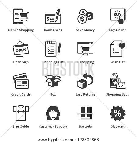 E-commerce Icons - Set 3. This set contains e-commerce icons that can be used for designing and developing websites, as well as printed materials and presentations.