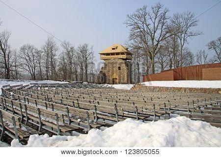 Sigulda, Latvia - March 17, 2012: Amphitheater At Sigulda Castle