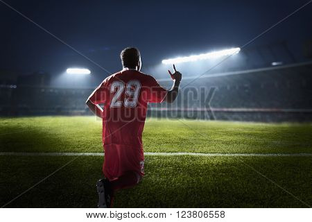 Athlete cheering
