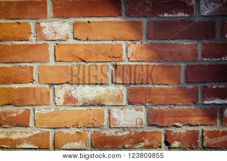 grunge brown stone wall texture and background