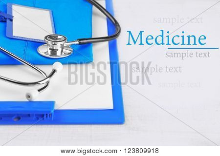 Medical supplies  on table close-up