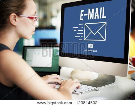 E-mail Correspondence Envelpoe Message Deliver Concept