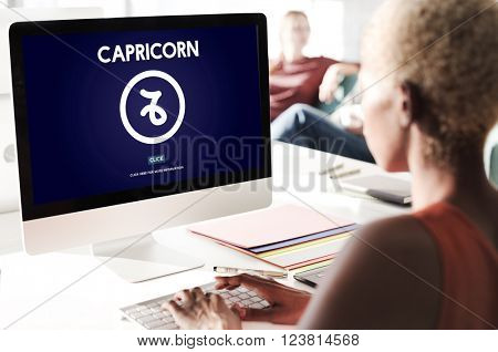 Capricorn Astrology Horoscope Zodiac Concept