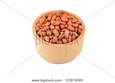Groundnuts In Wooden Bowl