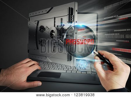 Computer as a bank and magnifying glass