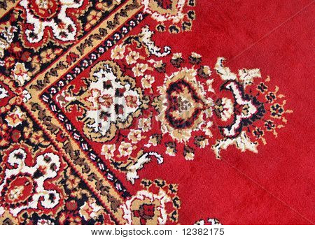detail of colorful persian rug