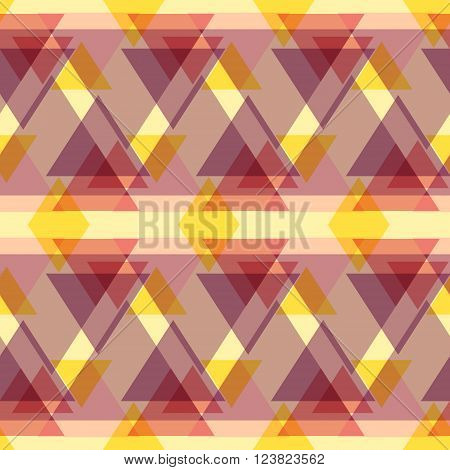 Abstract geometric seamless pattern with colorful triangles. Seamless modern geometric background. Unique and modern seamless abstract background with geometric figures