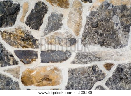 Fossil Stone Wall