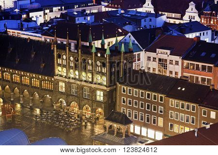 Town Hall on Coal Market in Lubeck. Lubeck Schleswig-Holstein Germany
