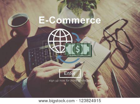 E-Commerce Business Finance Online Internet Concept
