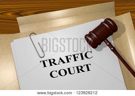 Traffic Court Concept