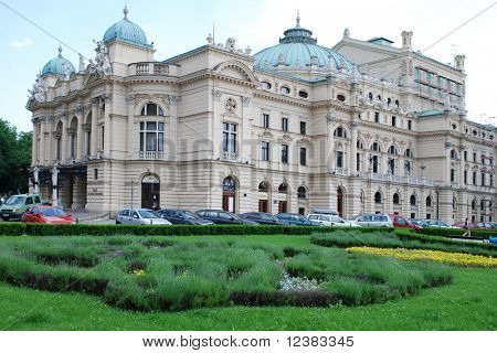 The baroque style theater built in 1892 in Cracow, Poland and continues to feature regular performances of plays and operas, named after the great Romantic playwright Juliusz Slowacki.