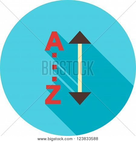 Sort, alphabetically, list icon vector image.Can also be used for text editing. Suitable for mobile apps, web apps and print media.