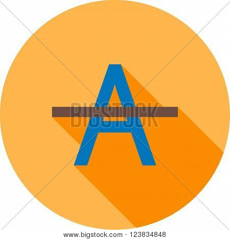 Words, alphabets, cancel icon vector image.Can also be used for text editing. Suitable for mobile apps, web apps and print media.