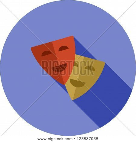 Theatre, acting, cinema icon vector image. Can also be used for outdoor fun. Suitable for use on web apps, mobile apps and print media.