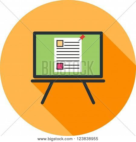 Board, notice, note icon vector image. Can also be used for photography. Suitable for use on web apps, mobile apps and print media.