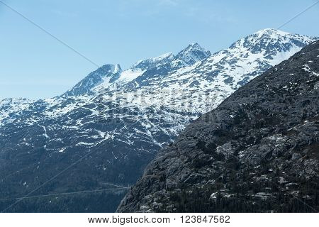 The White Pass and Yukon Route near Skagway, Alaska