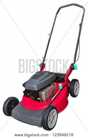 lawn-mower under the white background
