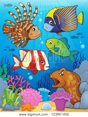 Ocean fauna topic image 5 - eps10 vector illustration.