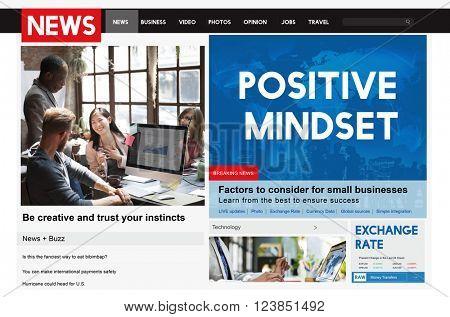 Positive Mindset Focus mental Optimistic Spiritual Concept