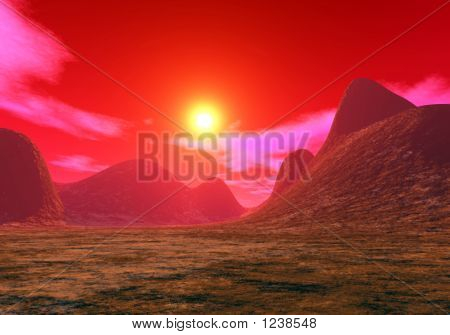 Stock Illustration Of Martian Sunset