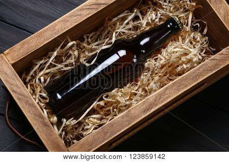 Beer Bottle In A Crate
