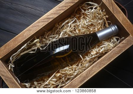 Wine Bottle In A Crate
