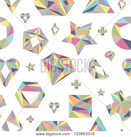 Seamless pattern with geometric shapes. Vector. Isolated