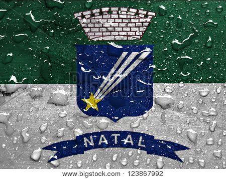 a flag of Natal with rain drops