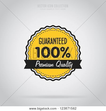 Guaranteed stamp. Advertisement symbol. Guaranteed icon. Guaranteed stamp vector isolated. Special offer stamp. Guaranteed stamp label. Promo stamp. Guranteed icon. 100% guaranteed.