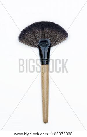 Top View Of Professional Makeup Brush Kit