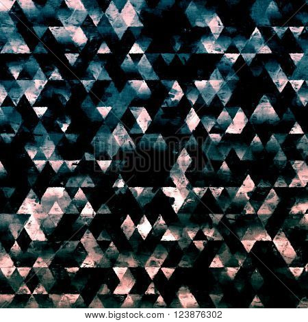 geometry painting, impressionism triangles painting, brush curved pattern painting,