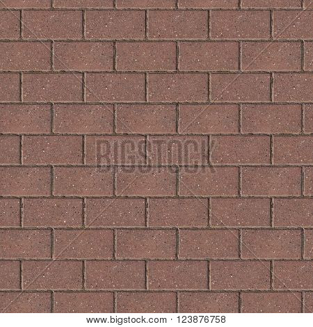 Brown Brick Wall Surface. Seamless Tileable Texture.