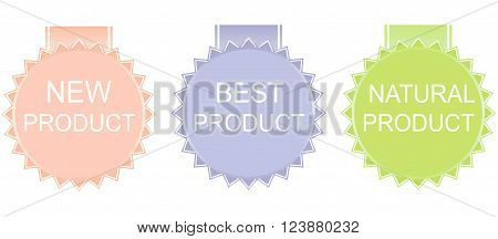 new product best product natural product. Vector.