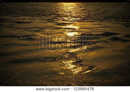 Tranquility on the sea in evening at thailand