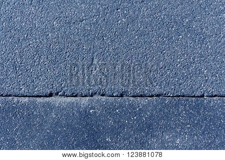 Blue Asphalt Surface.