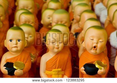 saving doll ceramic novitiate box at chonburi